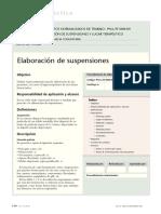 elaboración de suspensiones farmaceuticas