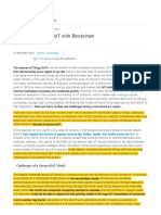A Secure Model of IoT With Blockchain - OpenMind