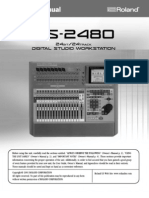 Roland vs 2480 Manual