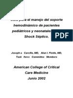 Guidelines Para El Manejo Del Shock Séptico Pediátrico