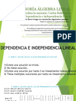 Ejercico Dependencia Lineal
