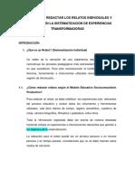PAUTAS PARA REDACTAR LOS RELATOS INDIVIDUALES Y COLECTIVOS EN LA SISTEMATIZACIÓN DE EXPERIENCIAS TRANSFORMADORAS.docx