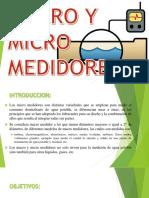 Macro y Micro Medidores de una Red de Agua Potable
