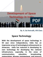 Development of Space Technology in India