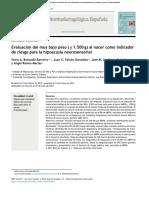 Evaluación del muy bajo peso (≤ 1.500 g) al nacer como indicador de riesgo para la hipoacusia neurosensorial