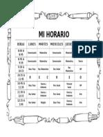 Formato de HORARIO