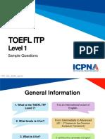 TOEFL Itp Level 1