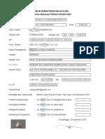 Formulir Pendaftaran Diklat Pengadaan Barang