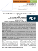 Clinical profile and circadian variation in onset of CVA at a tertiary care hospital