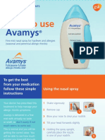 Avamys UK How to Use Leaflet August 2016