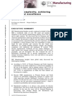 "IDC Manufacturing Insights – ""Beating complexity, achieving operational excellence"" Jul 2010"