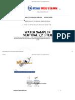 Water Sampler Vertical 2,2 Liter _ Peralatan-teknik.com