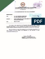 Memorandum From Office of the Undersecretary for Local Govt