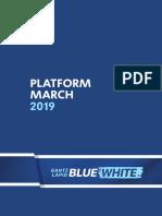 Blue & White English Platform