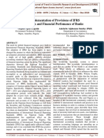 The Implementation of Provisions of IFRS Framework and Financial Perfomance of Banks