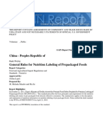 General Rules for Nutrition Labeling of Prepackaged Foods _Beijing_China - Peoples Republic Of_1!9!2013