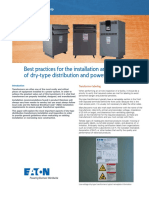 Transformer Dry Type Install Best Practices White Paper WP009003EN