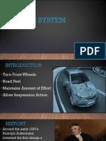 Steering System presentation