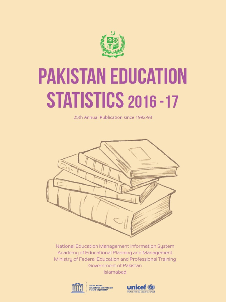 Pakistan Education Statistics 2016-17 pdf | Pakistan