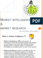 market research & intelligence PPT
