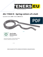 Din 11024 D - Spring Cotters of a Bolt