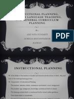 Instructional Planning, English Language Teaching, And