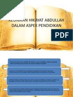 KEUNIKAN HIKAYAT ABDULLAH DALAM ASPEK PENDIDIKAN.pptx