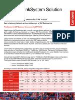 2018-04 Skylake Lenovo 2018 Flyer SAP Business One HANA