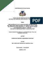 Tesina Aplicación de Las Clasificaciones Geomecánicas Del Rmr (Rock Mass Rating) y El Indice q, e