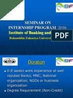 BZU Internship Seminar