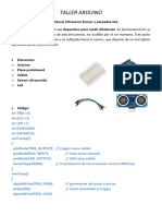 TALLER ARDUINO - P2b - Medidor de Distancia Ultrasonic Sensor y Parpadeo Led