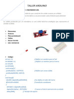 TALLER ARDUINO - P3 - Sensor Sonido y Encendido Led