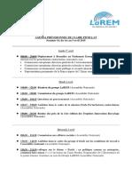 Agenda, Semaine 14