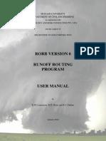 Rorb Manual
