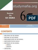 Mba Six Sigma Ppt
