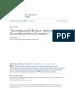 _Decentralization Dilemma in Indonesia_Does Decentralization Bre