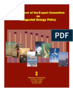 Draft Report of the Expert Committee on Integrated Energy Policy