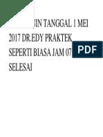 HARI SENIN TANGGAL 1 MEI 2017 DR.docx