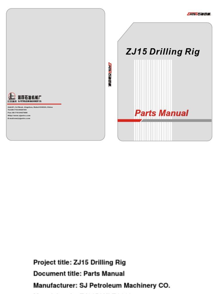 ZJ15 Drilling Rig Parts Manual pdf   Valve   Transmission (Mechanics)