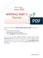 PET Writing Part 3 Story
