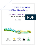 Let Our Rivers Live - Delhi Declaration - IRW 2014