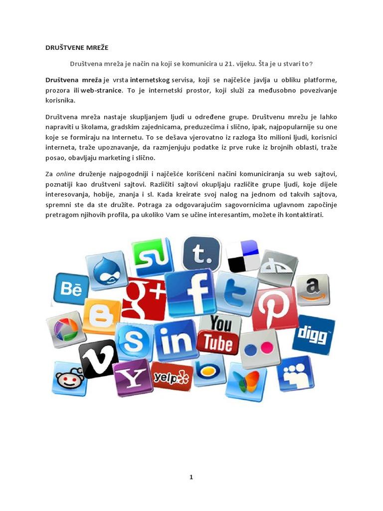 Besplatne web stranice za društvene mreže za druženje