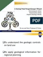 Course_4_Aspek Geologi Pada Perencanaan Wilayah_GPW2019
