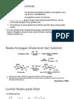 Reaksi Glukoronat dan Sulfat