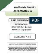 Short Term Preparation Fsc 2 Ptb Salman Sherazi