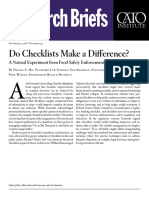 Do Checklists Make a Difference? A Natural Experiment from Food Safety Enforcement