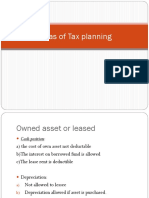Areas of Tax Planning