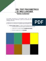 Test psicometrico de Max Luscher. Test de los colores