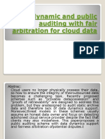 A Dynamic and Public Auditing With Fair Arbitration
