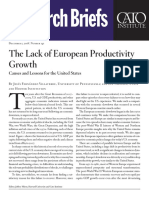 The Lack of European Productivity Growth